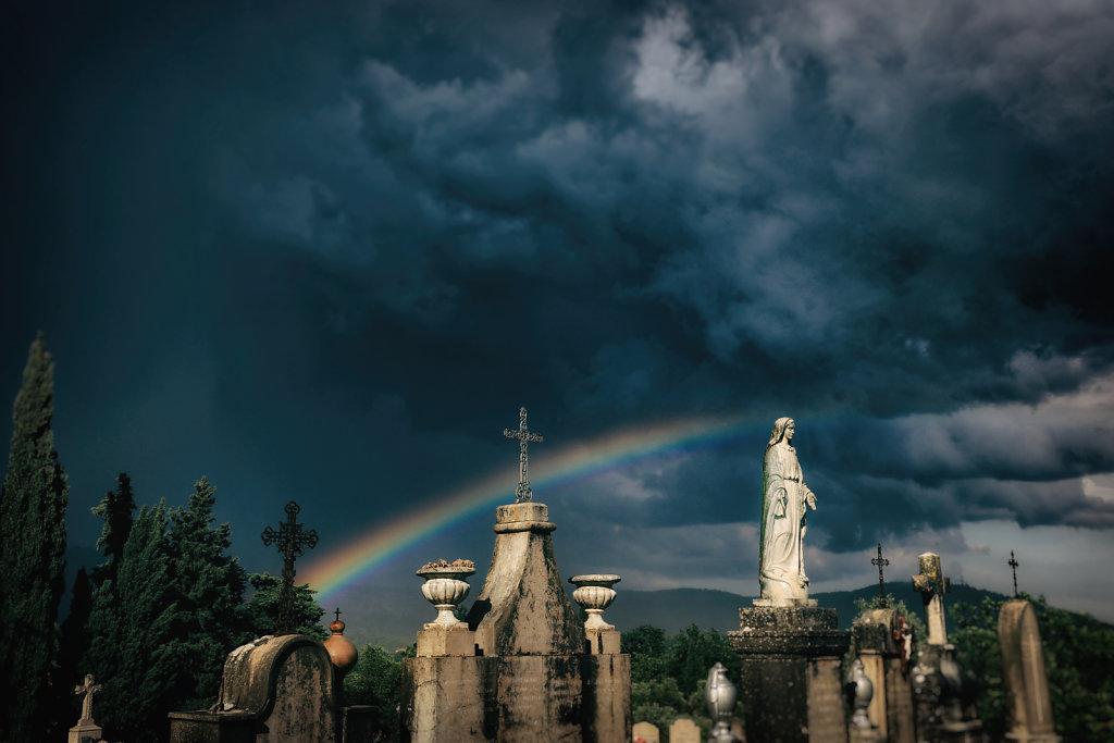Saint-Cézaire-sur-Siagne après l'orage